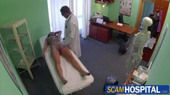 Sexy babe victoria gets fucked by her doctor in doggystyle position