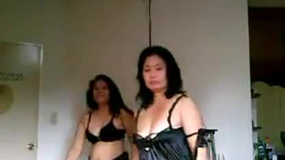 Two philippines milf seducing there bf on video
