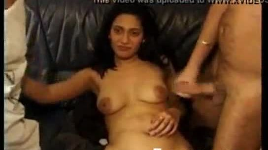 Hot lady fucked by a two cocks