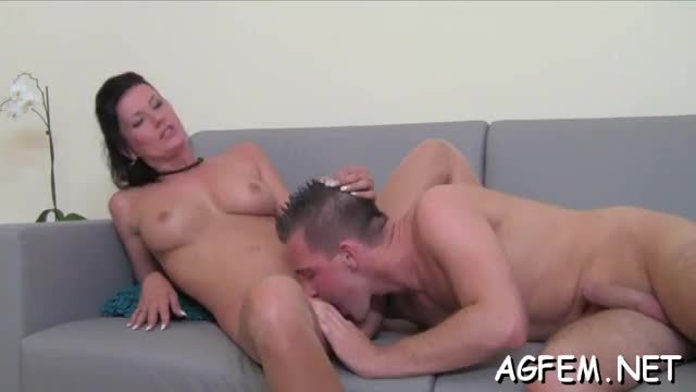 Sexy and adorable female agent is lust for some wild fuck