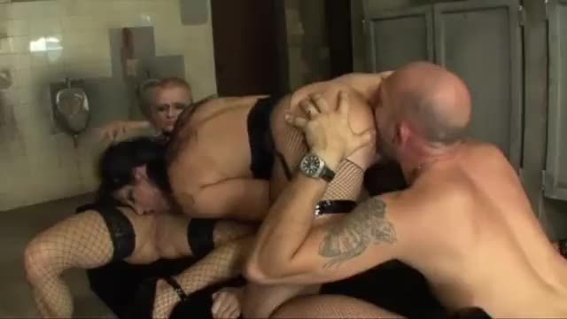 Violent anal sex for two slaves of sex