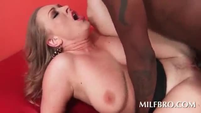 Busty mom pulled by the hairy and black nailed