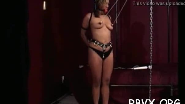 Teen in hardcore servitude scene