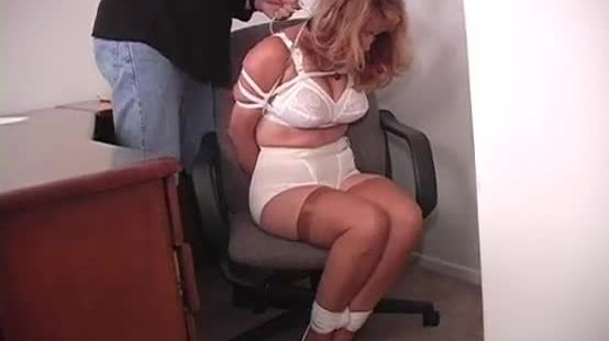 Secretary bound and gagged